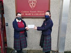Halloween RAG day proceeds posted to the Kildare Branch of Down Syndrome Ireland