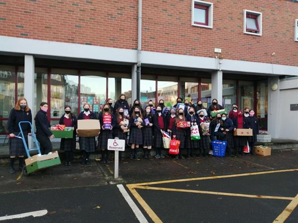 3K delivered the first of our food drive donations to Naas Food Bank