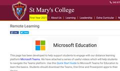 Remote Learning Webpage